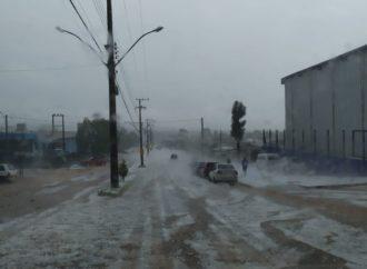 O temporal em Lagoa Vermelha foi de assustar…