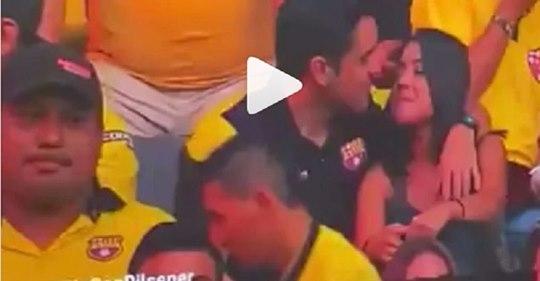 Vídeo: Torcedor viraliza após suposta traição em estádio