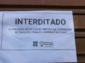 Mais uma igreja interditada no Centro de Porto Alegre