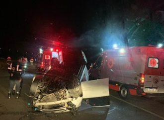 Acidente deixa um morto e quatro feridos na ERS-030