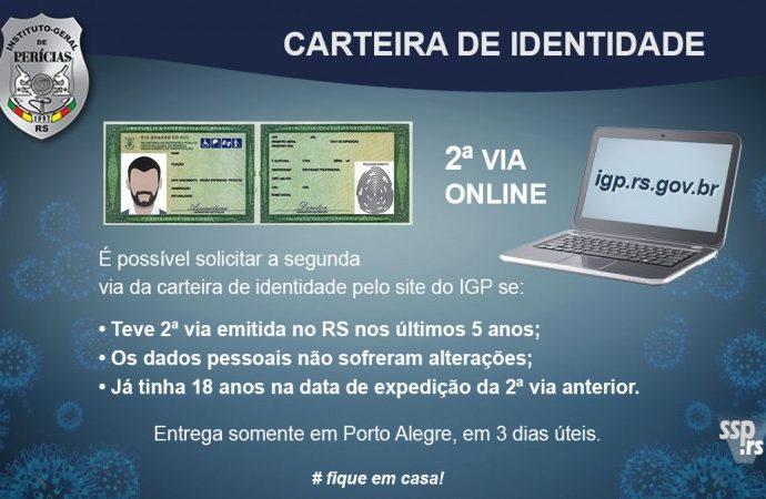 2a via da identidade pode ser solicitada on line