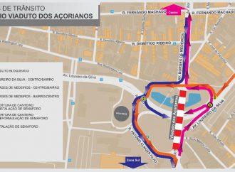 Trânsito terá novos desvios por interdição do Viaduto dos Açorianos