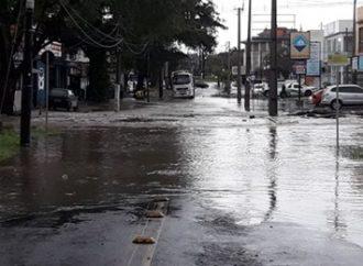 Atenção! Arroio transborda na zona Sul de Porto Alegre e bloqueia avenida