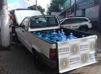 Brigada Militar de Canoas  recupera veículo com carga furtada em Nova Santa Rita