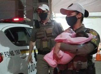 Em Sapucaia do Sul, brigadianos salvam bebê recém-nascido que se engasgou