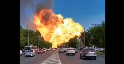 Vídeo: posto de gasolina explode na Rússia e registro é impressionante
