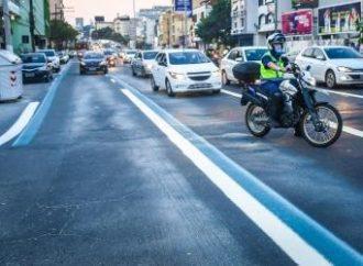 Nova faixa exclusiva para transporte público entrou em operação