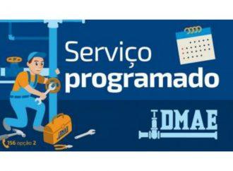 Dmae informa os próximos serviços programados