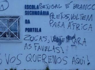 Escola em Portugal é pichada com frases racistas contra brasileiros