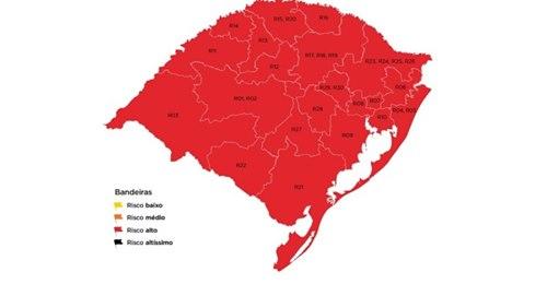 ISSO JA ERA ESPERADO: Pela primeira vez, todas as 21 regiões do RS estão em bandeira vermelha