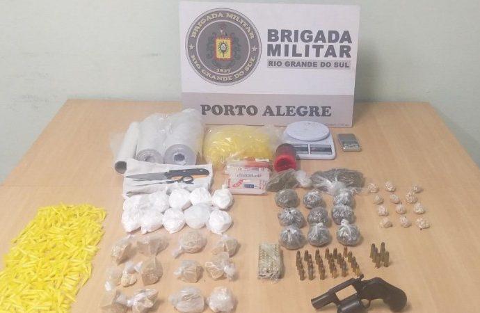 20º BPM prende homem por tráfico de entorpecentes e porte ilegal de arma de fogo