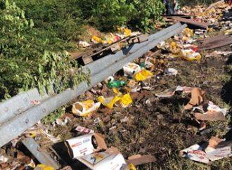 Caminhão carregado de cerveja tomba e moradores saqueiam a carga