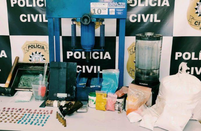 Estourado laboratório de drogas sintéticas localizado na cidade de São Leopoldo