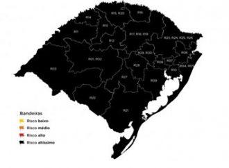 PELA 6ª SEMANA: todo o Rio Grande do Sul segue na bandeira preta
