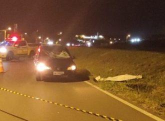 Idoso morre atropelado ao atravessar rodovia de bicicleta