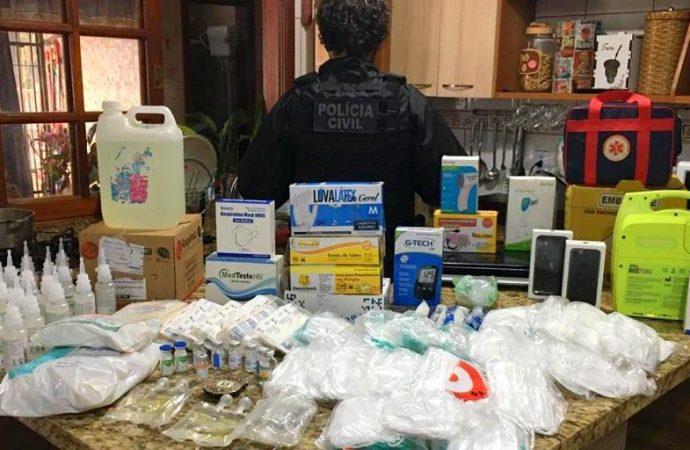 Casal de servidores municipais é preso pela Polícia Civil por desvio de vacinas em Viamão