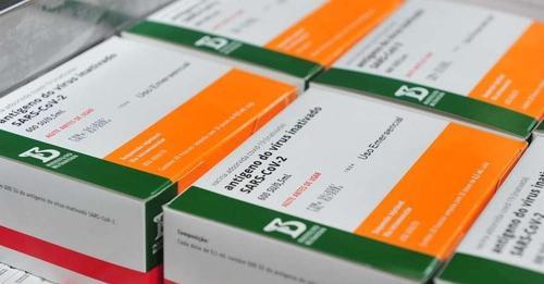 Entregue hoje nova remessa de Coronavac ao Ministério da Saúde
