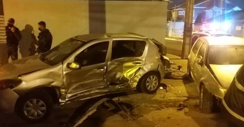 Motorista Bêbado invade preferencial e provoca acidente